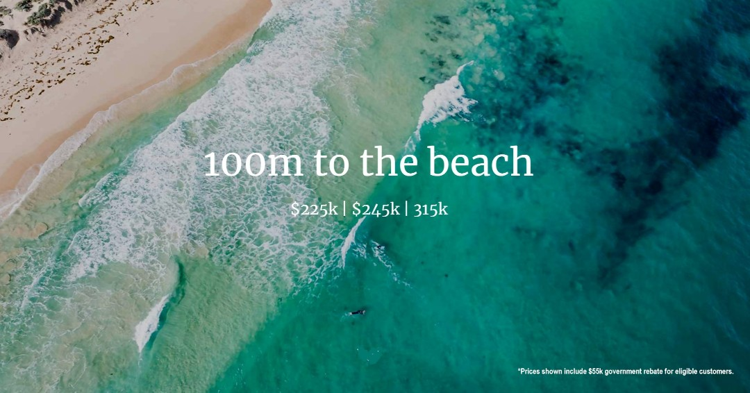 White sandy beaches only metres from your door. With the Yanchep Rail Extension, Perth city will just be 45min by train. For more information about blocks available in 'The Spot' click: https://t.co/q7ObYyIphE https://t.co/jbBd10jEKh