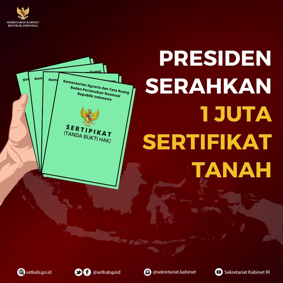 Sekretariat Kabinet On Twitter Kawankabinet Senin 9 11 Kemarin Presiden Jokowi Menyerahkan 1 Juta Sertifikat Tanah Untuk Rakyat Di Istana Negara Jakarta Nah Simak Yuk Apa Saja Sih Fakta Dibalik Penyerahan Sertifikat Tanah