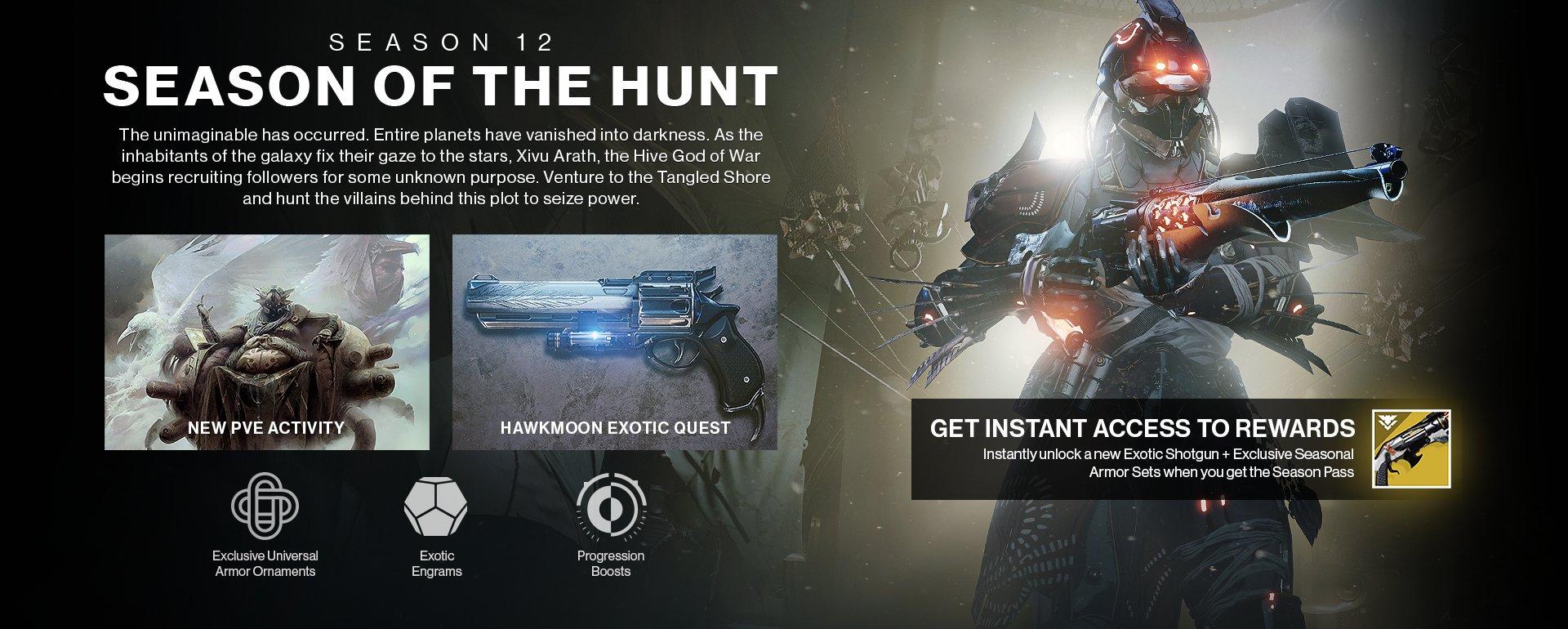 Seasonal activity season of the hunt