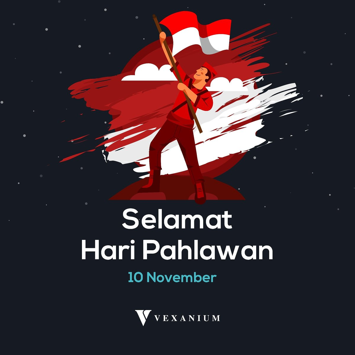 Peninggalan dari pahlawan adalah kenangan akan nama yang hebat dan warisan akan teladan yang hebat.  Selamat Hari Pahlawan, Vex Partners!  #haripahlawan #nasional #indonesia #vexanium #blockchain #pahlawan #merahputih