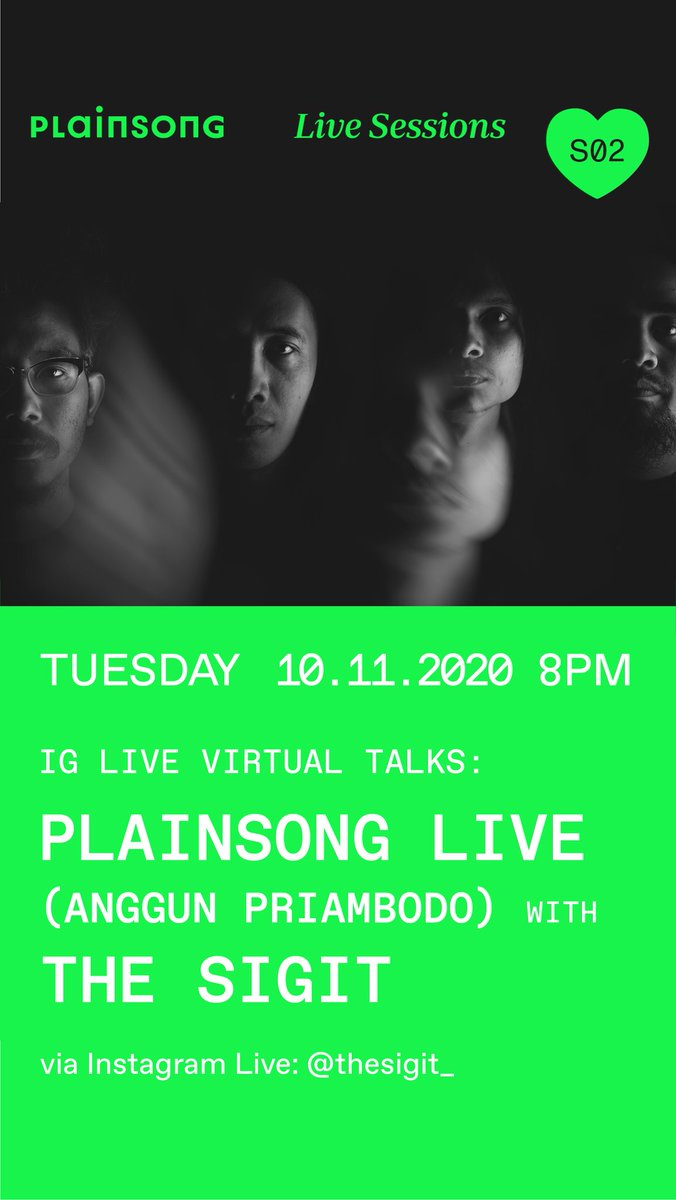 Nanti malam: Ngobrol-ngobrol tentang @plainsonglive di Live Instagram. Mulai 20.00 WIB ya. https://t.co/k33DoJKJJ9