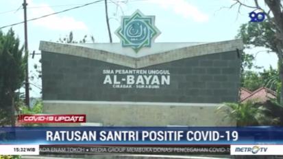 #Covid19UpdateMetroTV Kasus positif COVID-19 di Pondok Pesantren Modern Al-Bayan Cibadak Sukabumi kembali bertambah, saat ini ada 290 orang yang merupakan santri dan pengasuh yang menjalani karantina.
