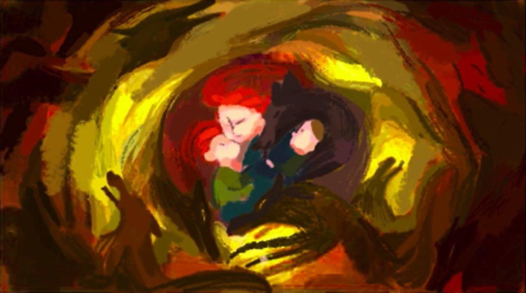 Color keys from Wolfwalkers (2020), dir. Tomm Moore and Ross Stewart, Cartoon Saloon
