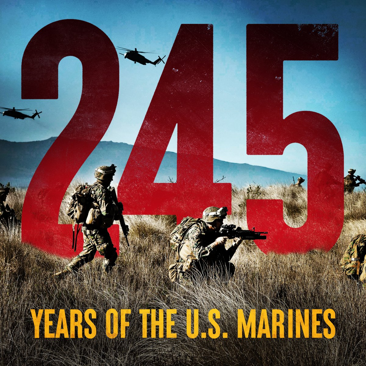 Today, we celebrate 245 years of those trained to improvise, adapt and overcome any obstacle in whatever situation they are needed. Happy Birthday, U.S. Marines!