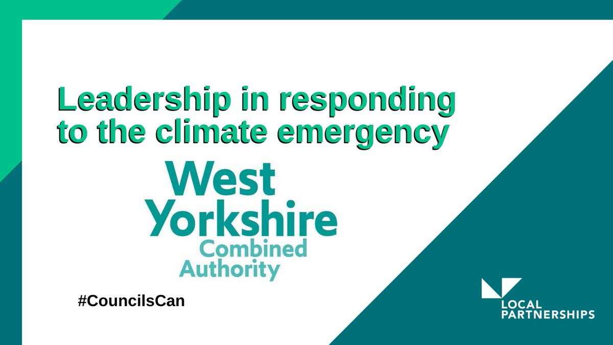 "Today we're celebrating #CouncilsCan and the successes of our colleagues across the public sector 👏We're shining a spotlight on @WestYorkshireCA, recent winners of @TheMJAwards ""Leadership in responding to the climate emergency""#LocalGov #CouncilsCan"