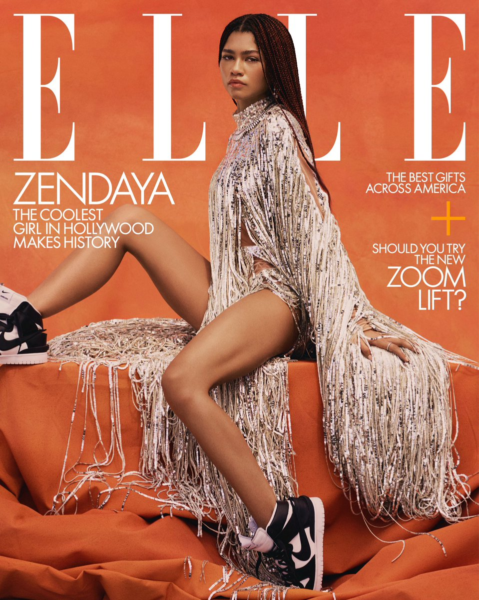 """This December, @Zendaya returns as Rue Bennett in #Euphoria—the role that gave her the Emmy for Outstanding Lead Actress in a Drama Series. """"I was very nervous, but I'm glad my family was there,"""" she told @RealChalamet of her historic win."""