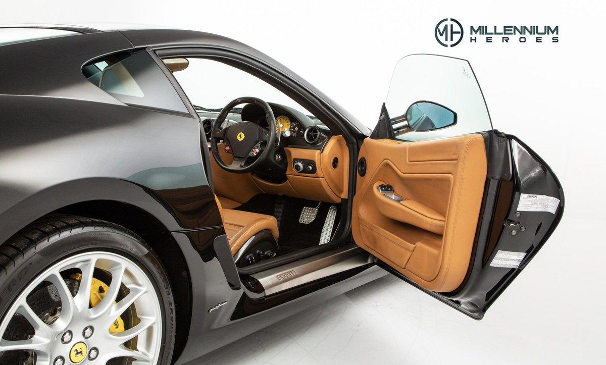 This #Ferrari599 features a quite stunning combination of Cuoio Hide and contrast stitching; a unique specification that features a three tiered dash, leather headliner and luggage shelf: https://t.co/6ZnLaMcLhv https://t.co/38UiwBfVZo