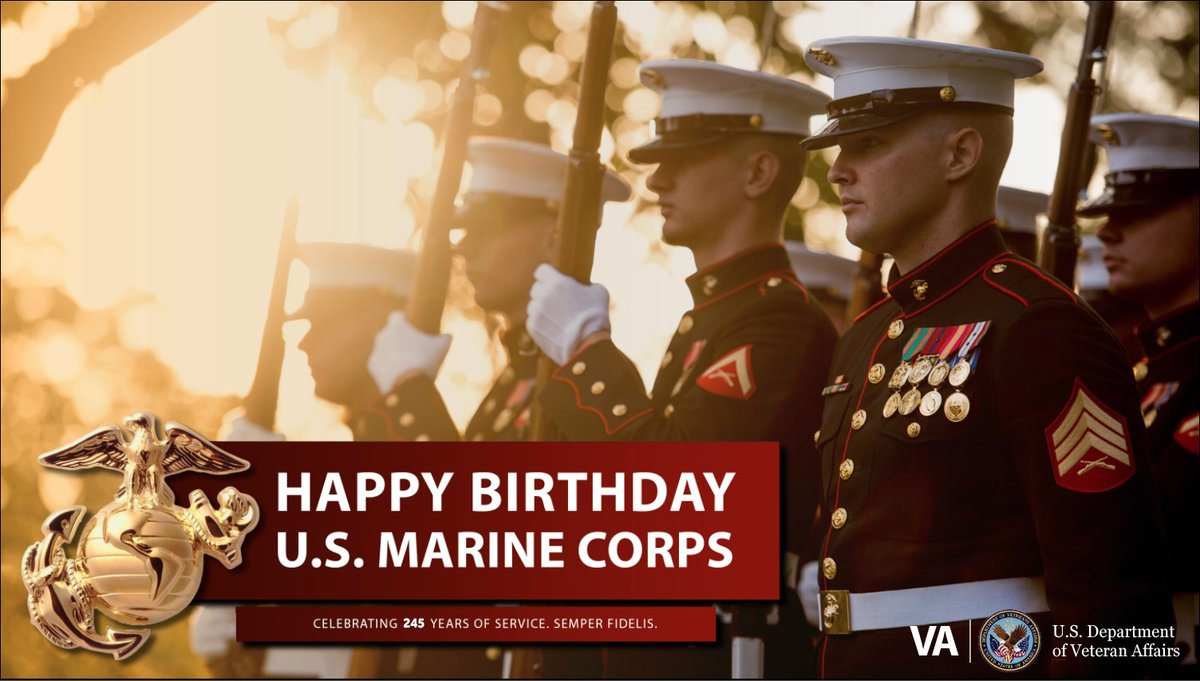 Veterans Affairs On Twitter Happy Birthday To All Our Usmc Veterans Here S To Another Year Of Honor Courage And Commitment