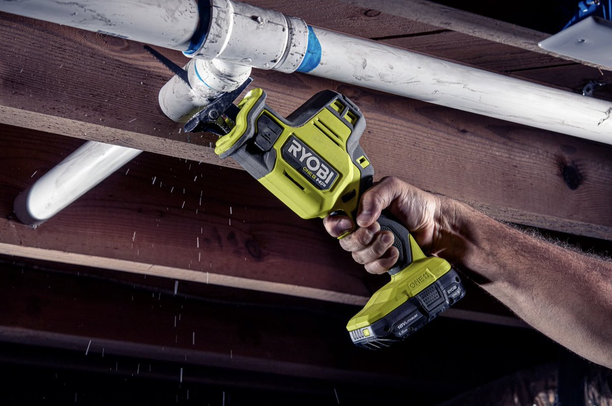Raise your hand if you need the 18V ONE+ Compact One-Handed Reciprocating Saw! 🤚