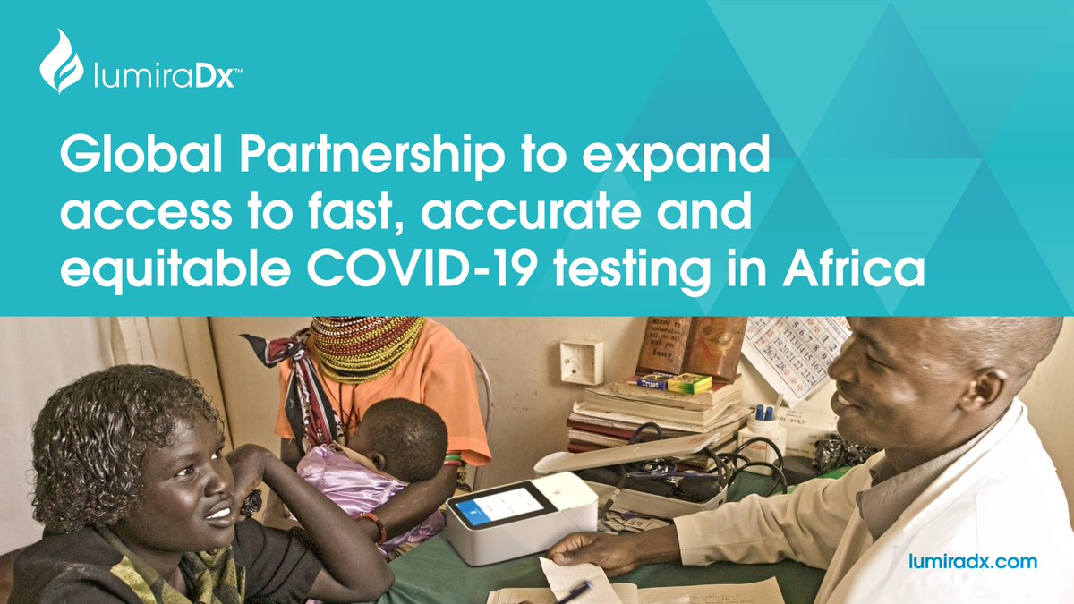 We are proud to announce a Global Partnership to Introduce the LumiraDx Point-of-Care Diagnostic Platform for COVID-19 Antigen Testing in Africa #covid19 #antigen #lumiradx