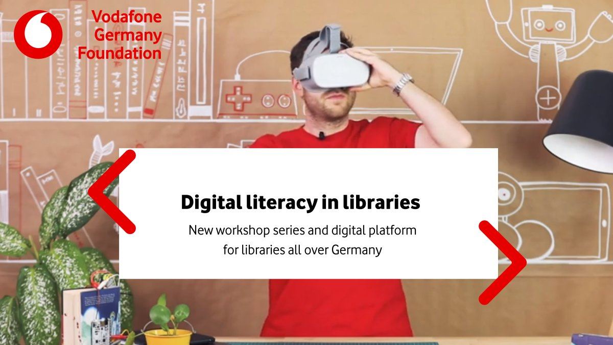 Nearly 100 librarians participated in the first Digital Libraries workshop!  🇩🇪📚 Working with VÖBB, Vodafone Germany is helping librarians integrate digital literacy into their work with young people, seniors and refugees. #ConnectedLearning
