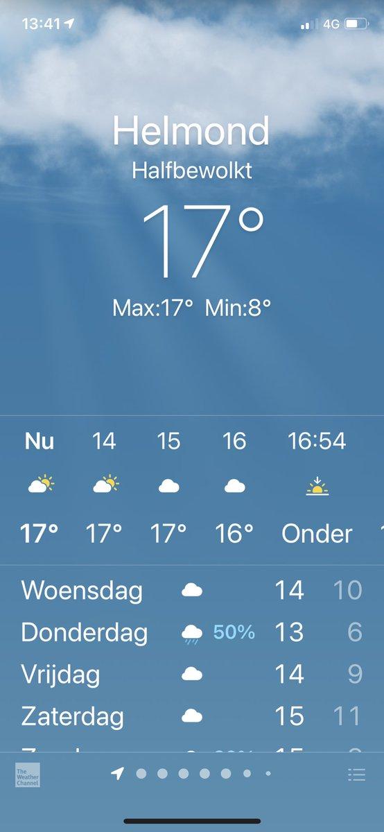 test Twitter Media - Het is di 10-nov-2020, 13:40u en het is hier in Helmond, Noord-Brabant, 17 gr. met zon. Dat is een 'tropische dag'! Ga maar na: t.o.v. de meetperiode 1981-2010 geldt een 'tropische zomerdag' vanaf 30 gr. In nov. is het dus vanaf 16 gr. een 'tropische herfstdag' #klimaatopwarming https://t.co/kgYqw9IhyB