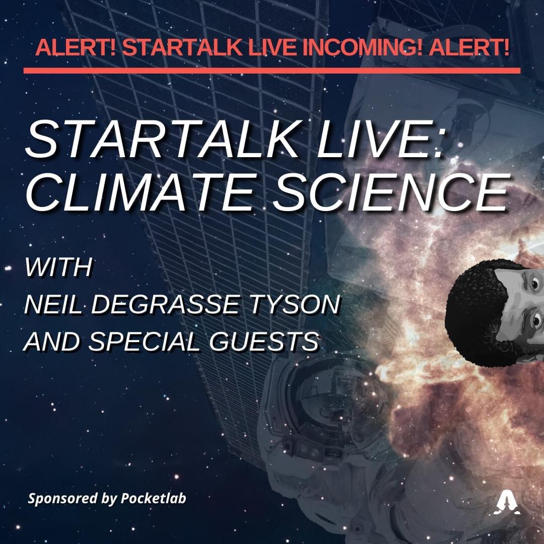 Did you miss our live stream on climate change? The Earth doesn't have a plan(et) B, but we do!  Listen now wherever you get your podcasts.  @neiltyson @chucknicecomic @KHayhoe @petermahaffy