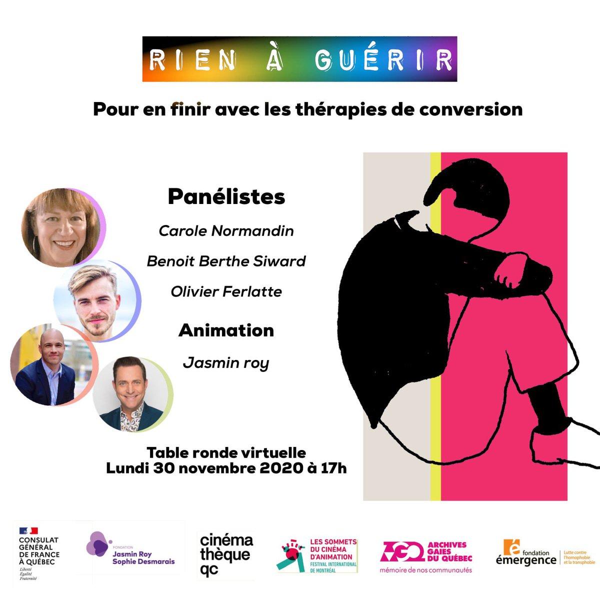 "Fondation Jasmin Roy Sophie Desmarais على تويتر: ""RIEN À GUÉRIR"