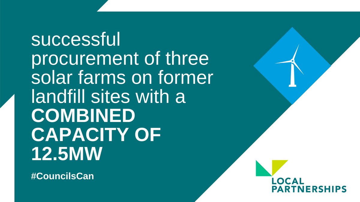 Last year we worked with Welsh Government Energy Service @_energyservice to support the Welsh public sector improve energy efficiency of buildings and renewable energy on its estate, including the procurement of three solar farms on former landfill sites.#CouncilsCan #LocalGov