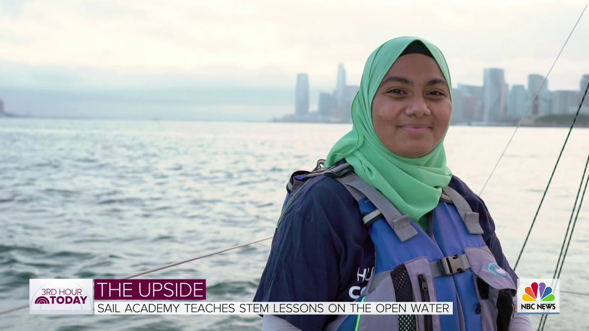 Hudson River Community Sailing, a US Sailing Reach Center for #STEM education, was featured today on @3rdHourTODAY @TODAYshow 📺❗️ https://t.co/V0NfWzMS5Z