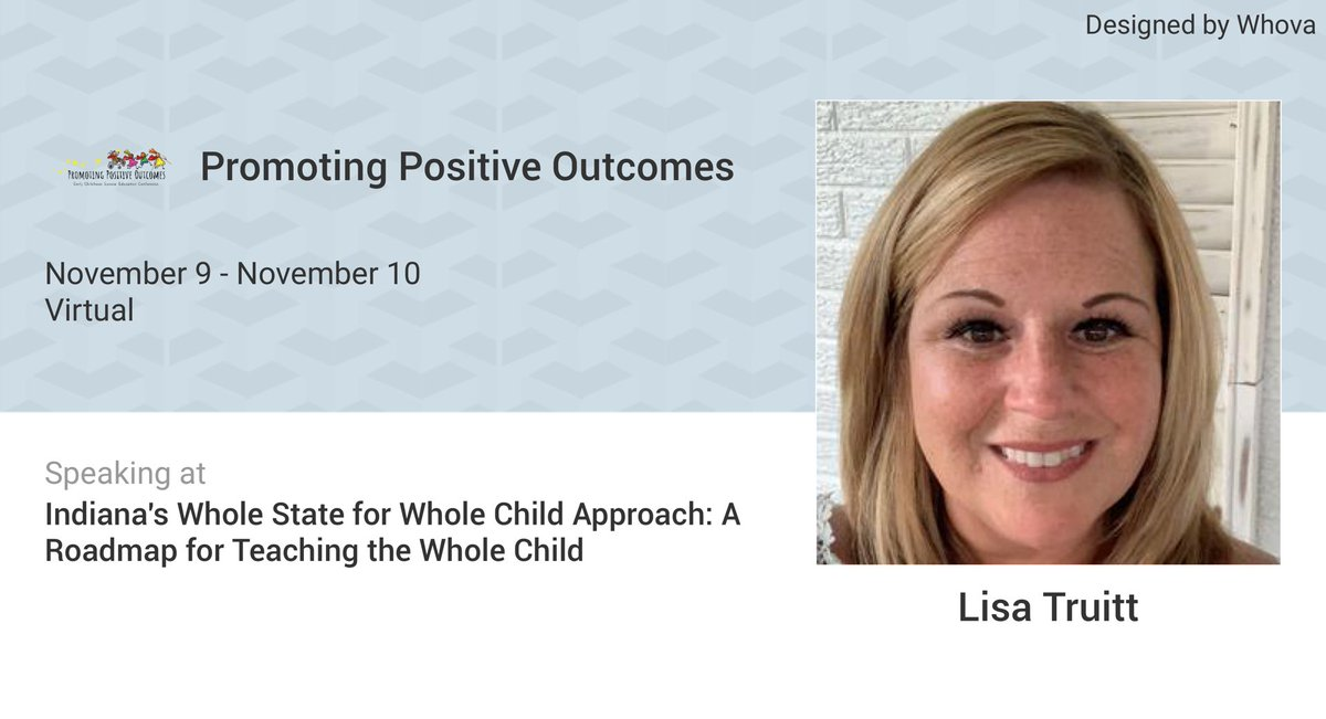 I am speaking at Promoting Positive Outcomes. Please checkout the details of my talk at: whova.com/embedded/speak…