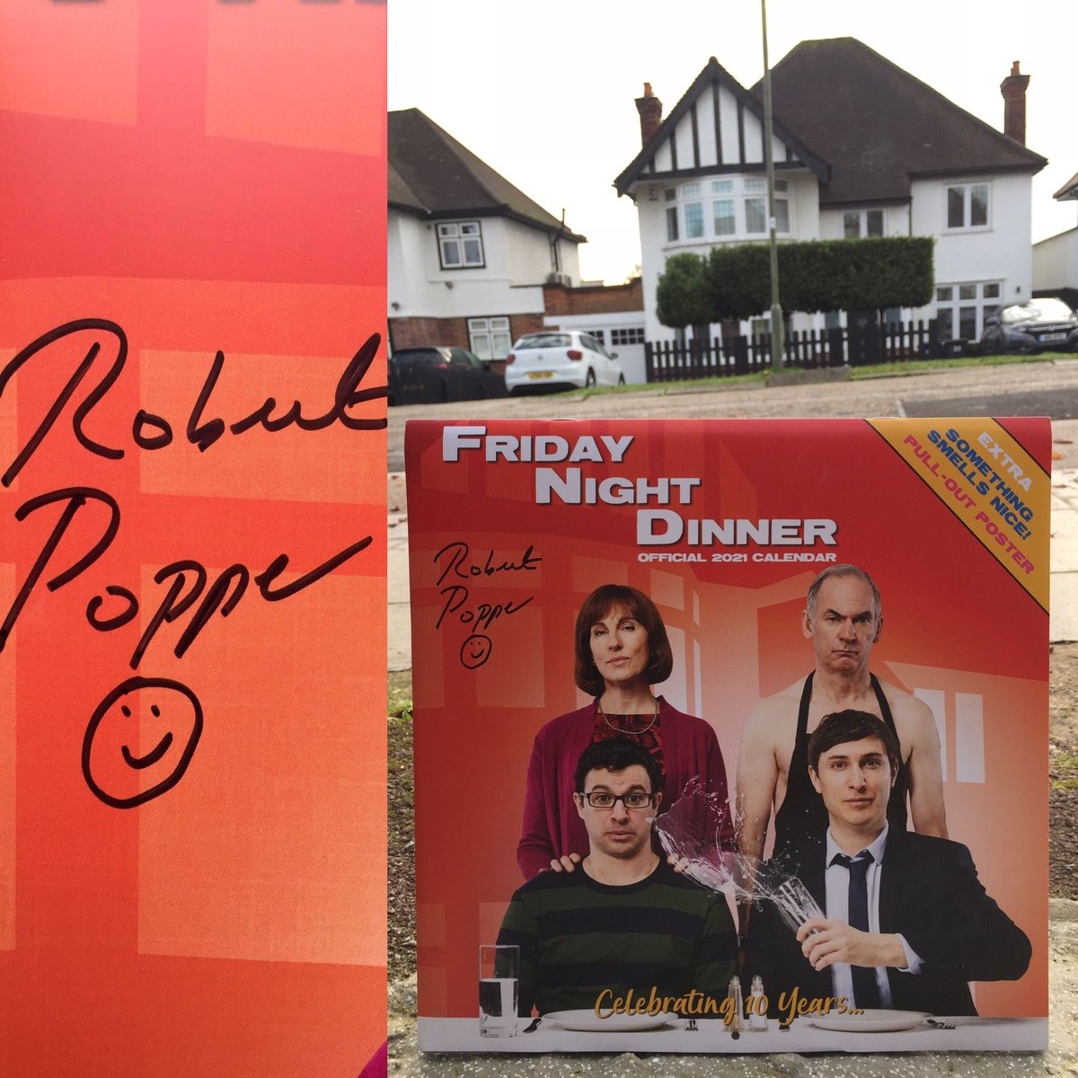 Here is your chance to own a SPECIAL EDITION Friday Night Dinner 2021 Official Calendar signed by writer, creator and producer @robertpopper!  Available now at the official store: