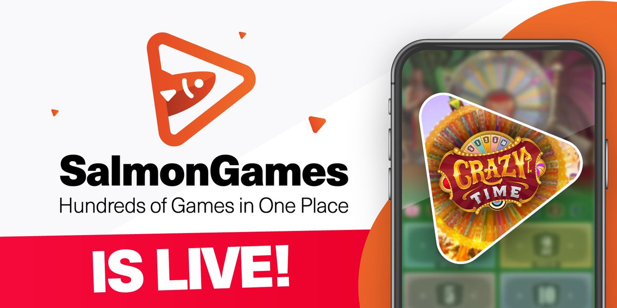 Dear community, We are proud to announce that Salmon.Games is Live! 🥳 Good luck with Hundreds of Games Available! ❤️