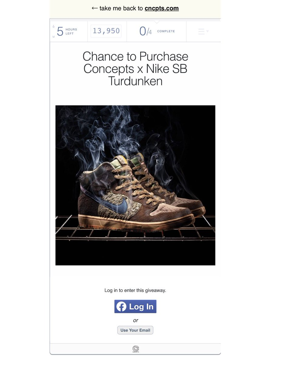 CONCEPTS x Nike SB TURDUNKEN