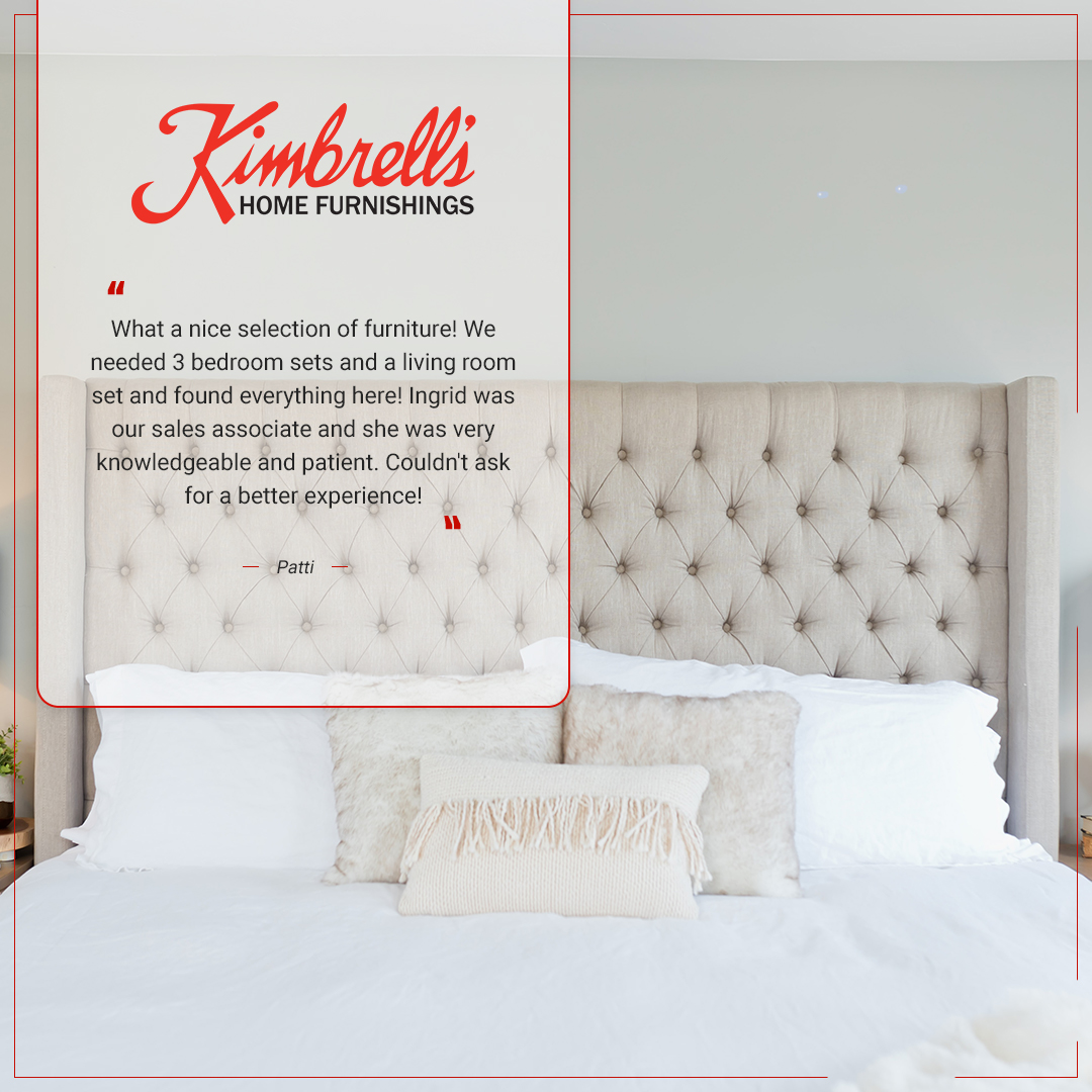 Kimbrell S Furniture On Twitter Patti We Re Glad To Know You Had Such A Great Experience With Ingrid Thanks For Choosing Kimbrell S Kimbrellsfurniture Kimbrellshomefurnishings Kimbrells Kimbrellsnc Kimbrellssc Homefurnishings Homedecor