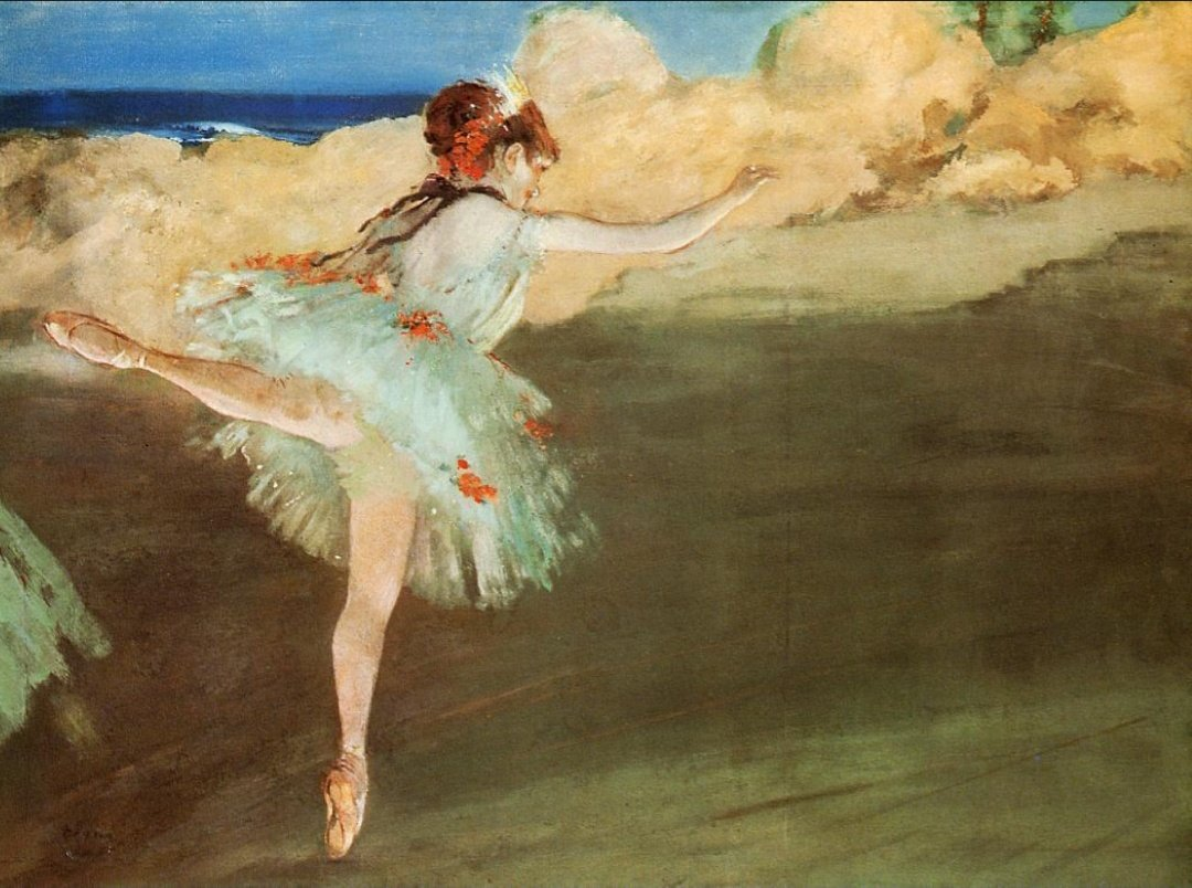 The Star: Dancer on Pointe by Edgar Degas, 1880. Dimensions: 56.5 x 75.6 cm. Medium: Gouache and pastel on paper. #HappyYeojinDay #LOONA #이달의소녀 @loonatheworld