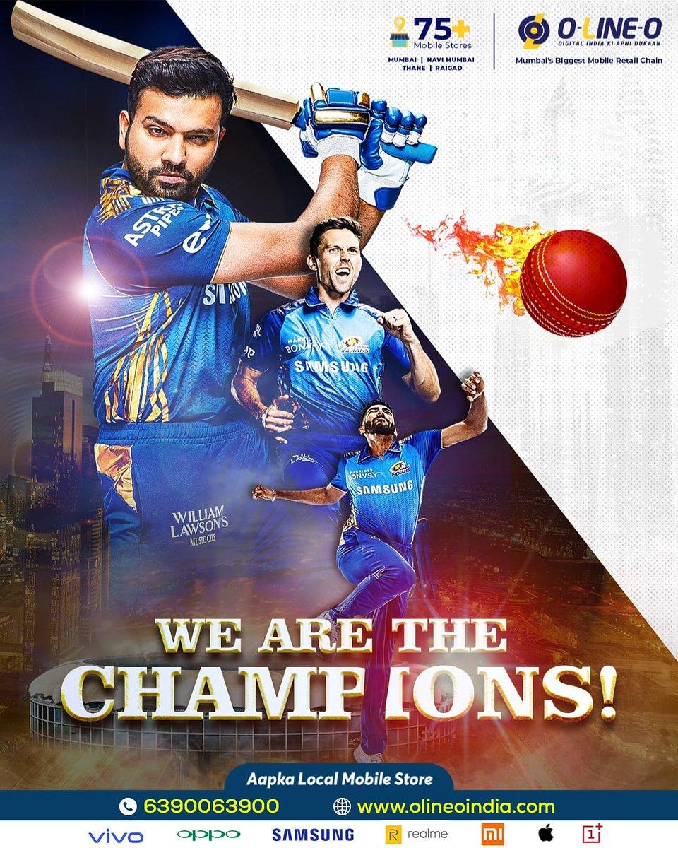 5th Time IPL Champions!  Congratulations @mumbaiindians for winning IPL 2020. 💙🏆  #MIChampion5 #MumbaiIndians #Mumbai #IPL #vivoIPL #IPL2020 #IPL2020Final #Dream11IPLFinal #OLINEO #MIvDC #MI #BCCI #Winners