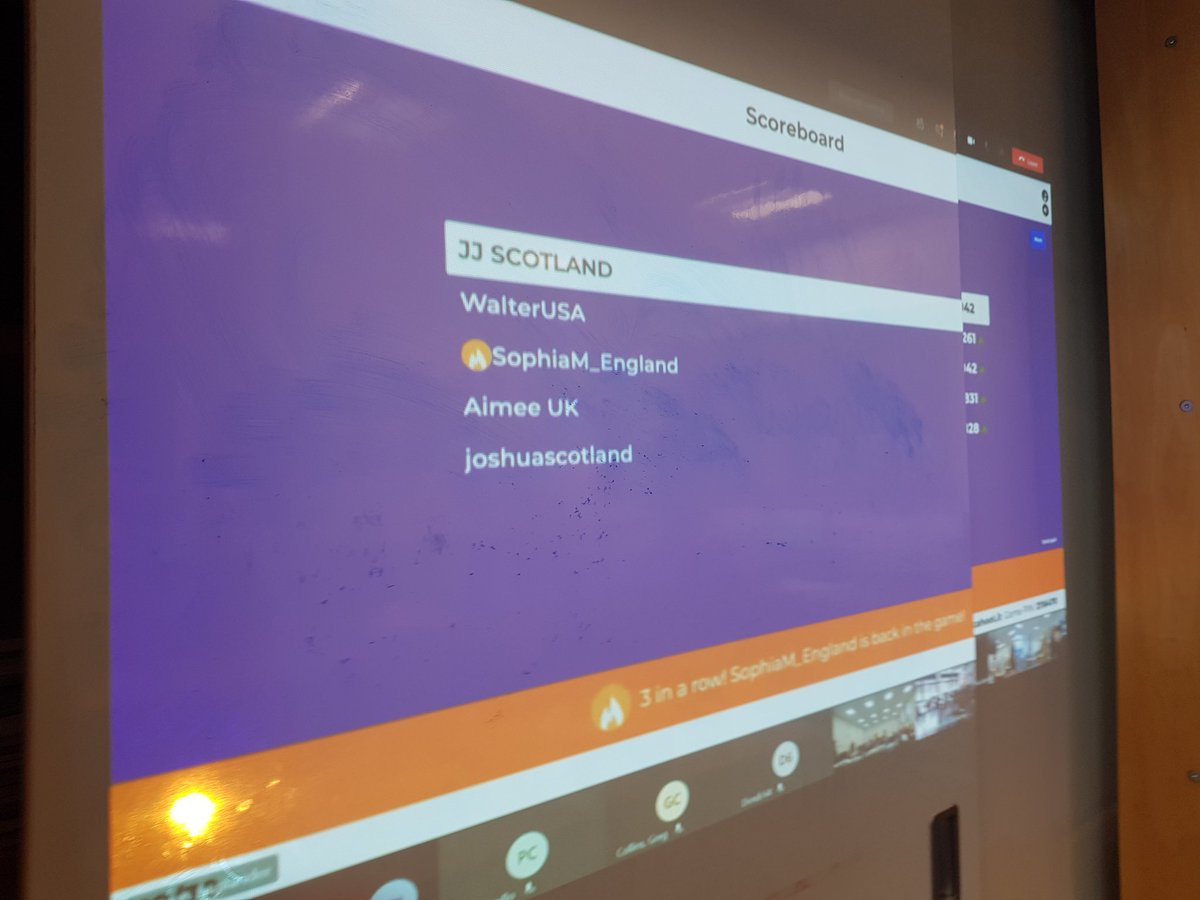 @sauslander @GetKahoot @SkypeClassroom That was one of my students. He was in the lead until the last question..lol