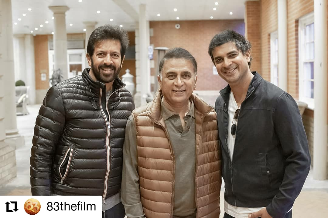 """#83thefilm @83thefilm • • • • • • Whenever Sunny Paaji is """"in the centre"""", he brings a smile on our faces. :) #ThisIs83 #sunilgavaskar"""