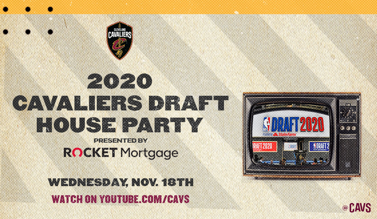 Join us on 2020 @NBADraft Night for a live virtual pre-Draft party hosted by @CavsJMike & @Mark25Price, featuring special guests @jbbickerstaff_, @dariusgarland22, @joethomas73, Terry Francona, @stipemiocic and @HEELZiggler, starting at 6:00 PM!  DETAILS: https://t.co/zUE4lZQpwD https://t.co/LUwkjBdcCH