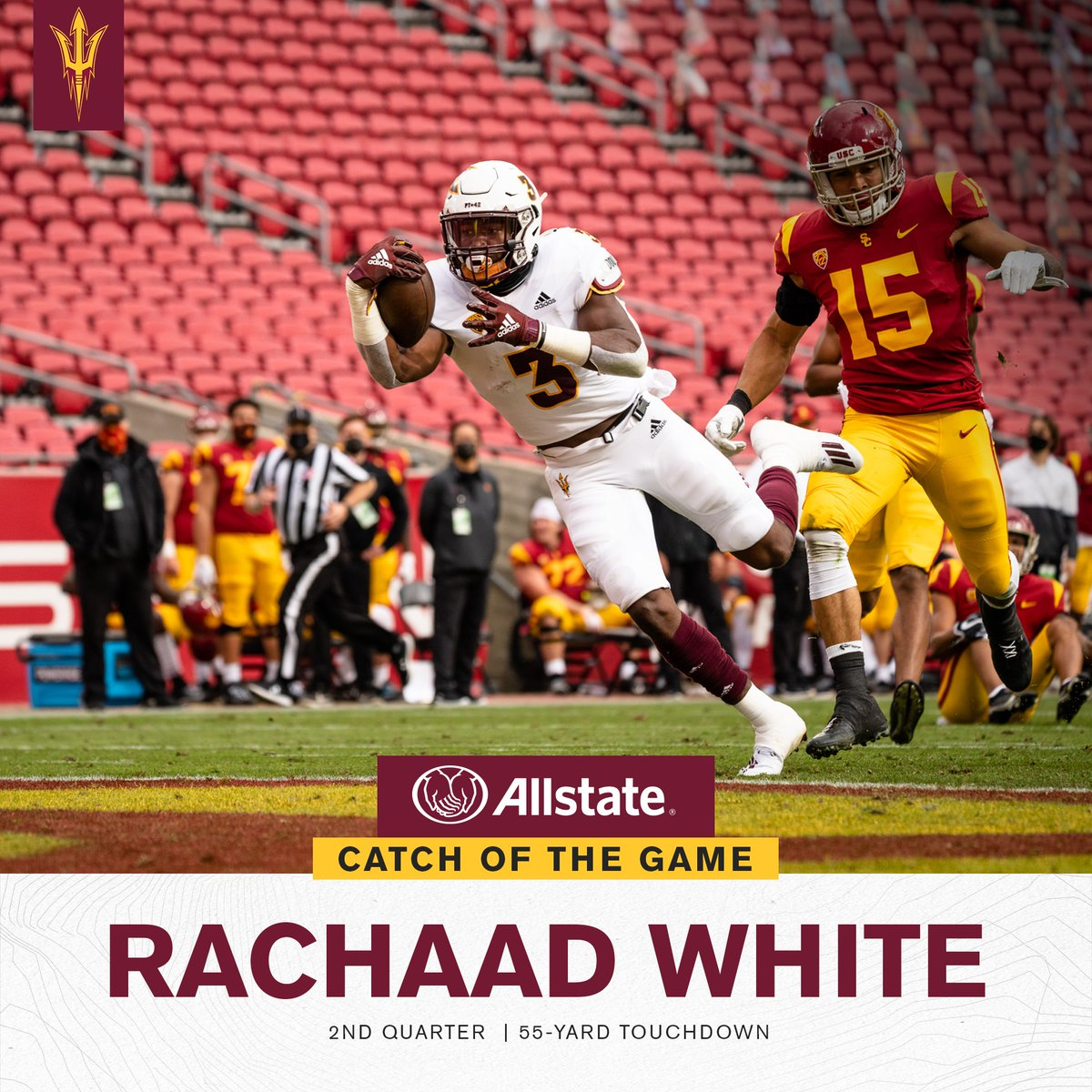 Who's ready to watch some more of @7_chaad this season? White earns this week's Catch of the Game!