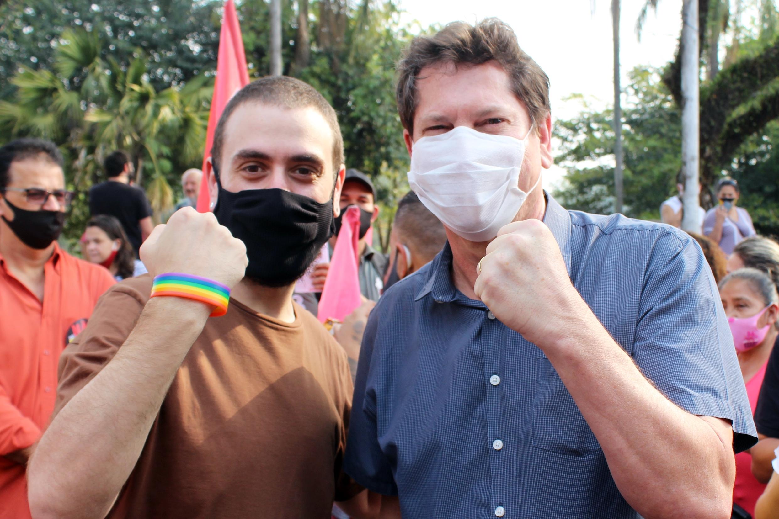 William De Lucca e o candidato do PT à prefeitura de São Paulo, Jilmar Tatto. (Foto: Reprodução / Twitter)