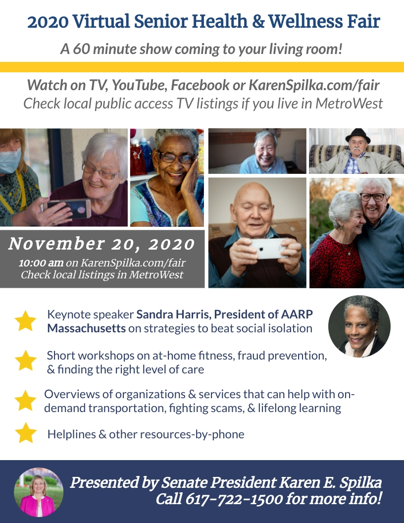 virtual Senior Health & Wellness Fair = Nov 20