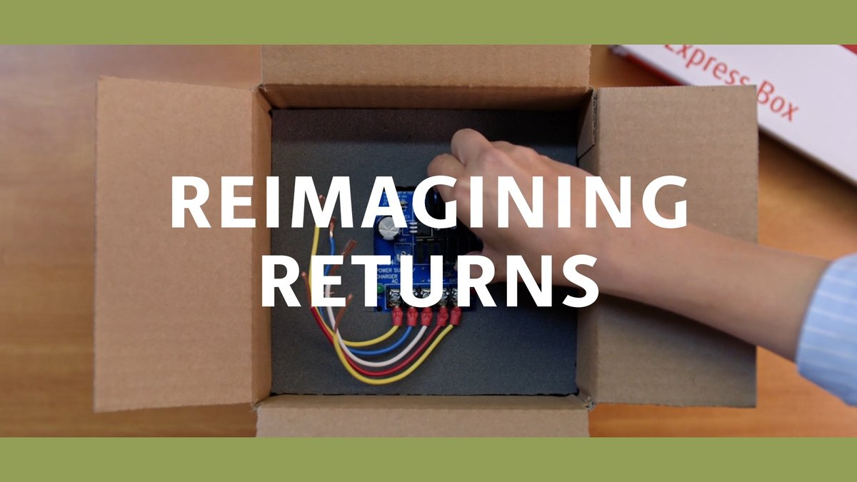 As online purchases surge, so do returns. So we're developing innovative returns packaging and partnering with @OptoroInc to ensure every return is able to be restocked or resold. #circulareconomy