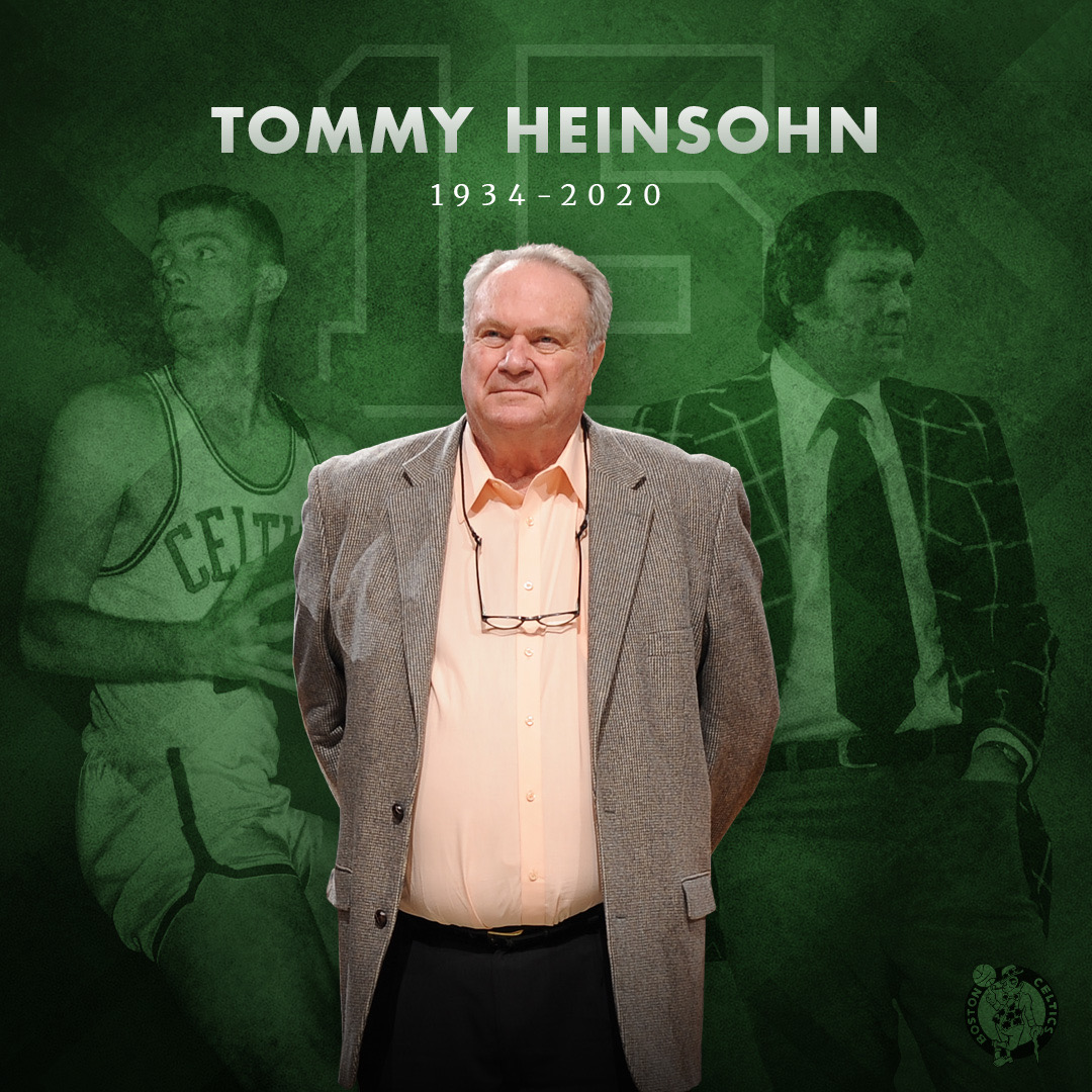 "Boston Celtics on Twitter: ""We take this time to celebrate Tommy Heinsohn's  life and legacy, and to share in the sorrow of his passing with his family,  friends, and fans. As long"