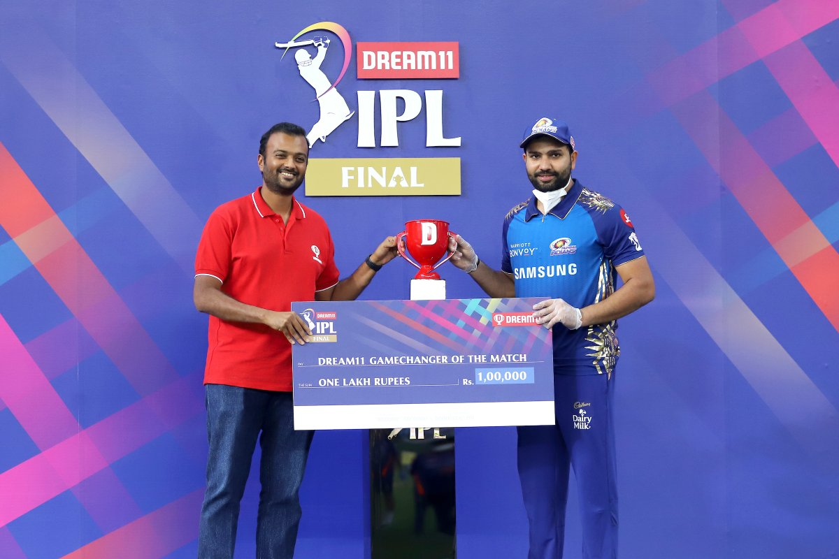 Dream11 GameChanger of the #Final between @mipaltan  and @DelhiCapitals is Rohit Sharma.  @Dream11 #YeApnaGameHai #Dream11IPL
