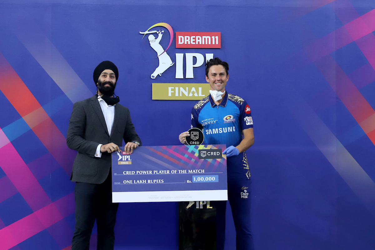 CRED Power Player of the #Final between @mipaltan and @DelhiCapitals is Trent Boult.  @CRED_club #CREDPowerplay #Dream11IPL