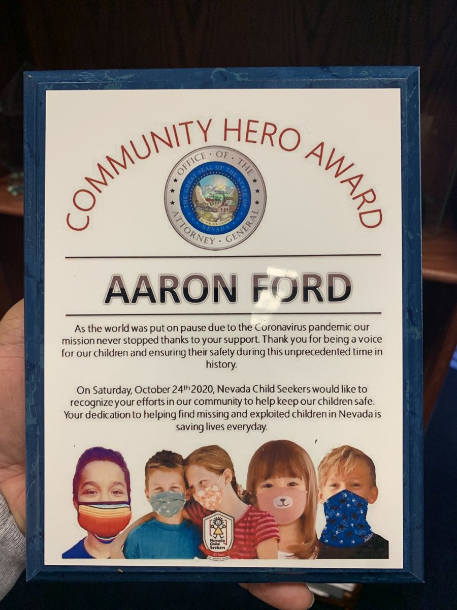 On behalf of our missing children and their families we thank you General Ford. There's so much work that goes into rescuing our children. You are our hero!