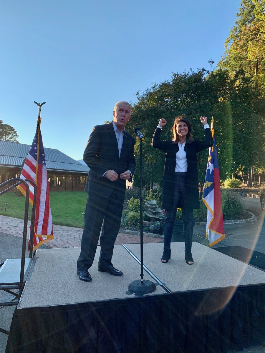 Congratulations to @ThomTillis on a hard fought win! Thank you to the great people in my sister state of North Carolina! Now let's go win Georgia!