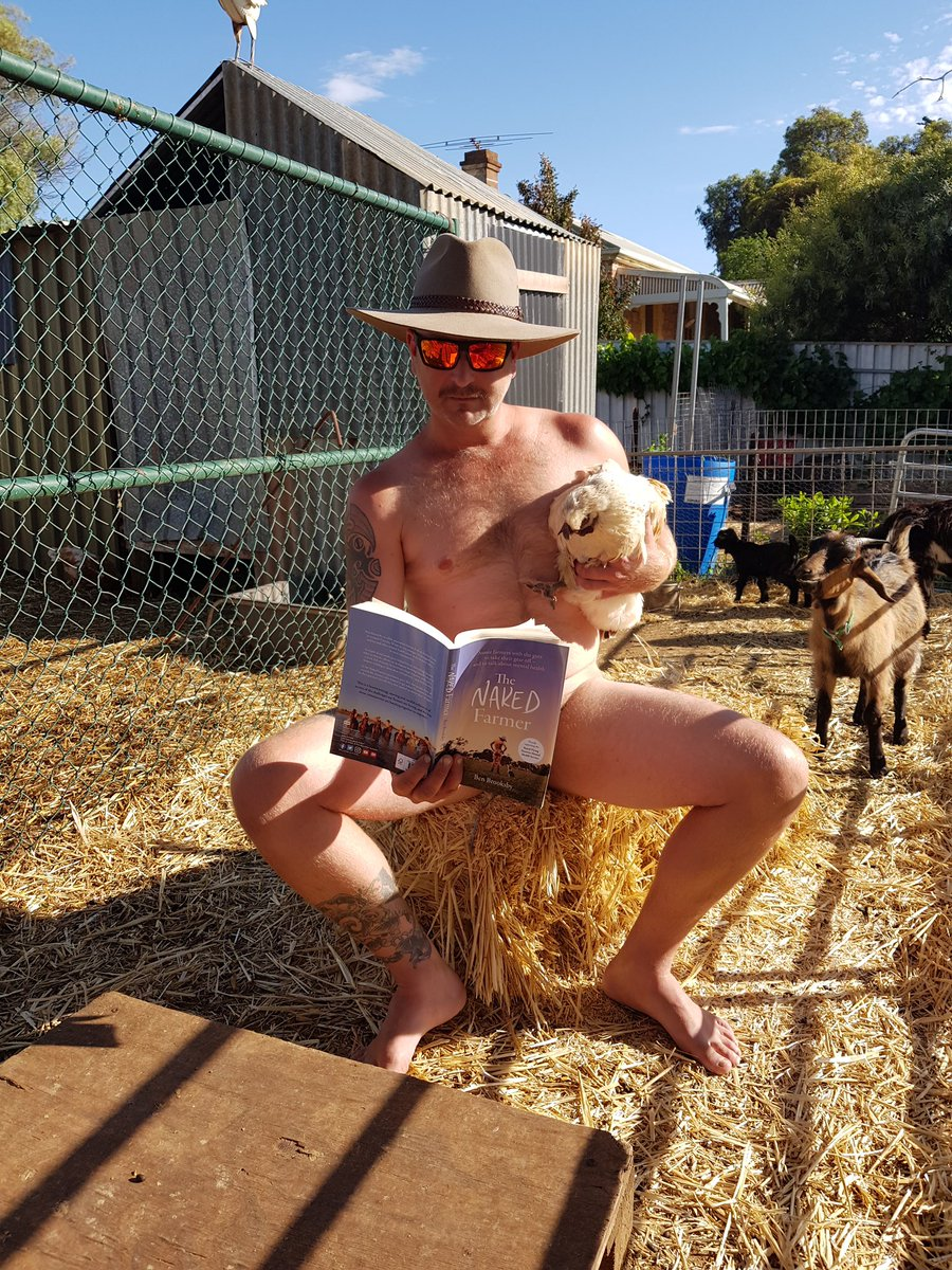 Men farming naked Exhibitionist: working