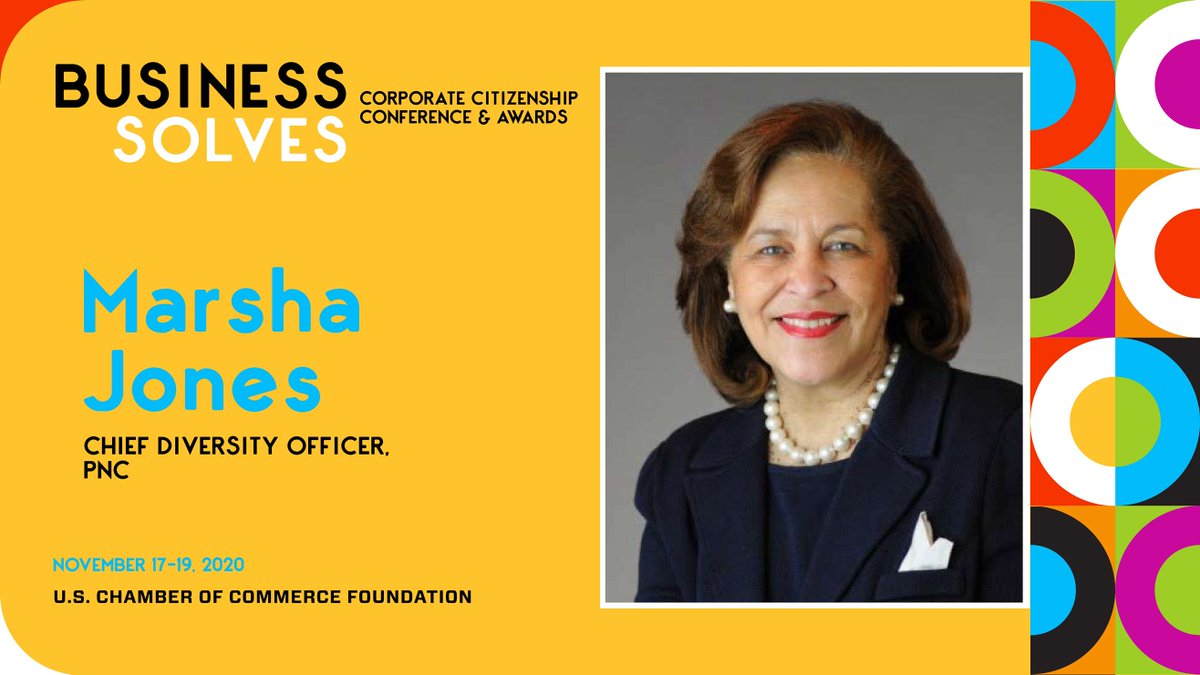 How is business paving the way for greater #equity? Hear from Marsha Jones, Chief Diversity Officer for @PNCBank, at #BusinessSolves on Nov. 17. Register now https://t.co/t2z8mxkbmL https://t.co/V1EijWcwWQ