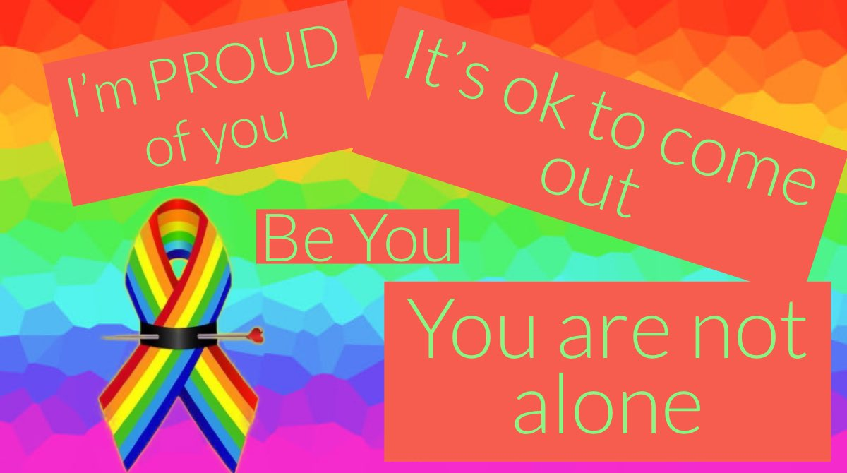 11/10/94 I came out to my first family member.  My brother. He is gay as well, so he accepted it.  He had been waiting for years for me to say it.  I just wasn't ready.   If you are not ready, hold off.  But if you are ready, go ahead.  #ComeOut #NationalComingOutDay ❤️🧡💛💚💙💜