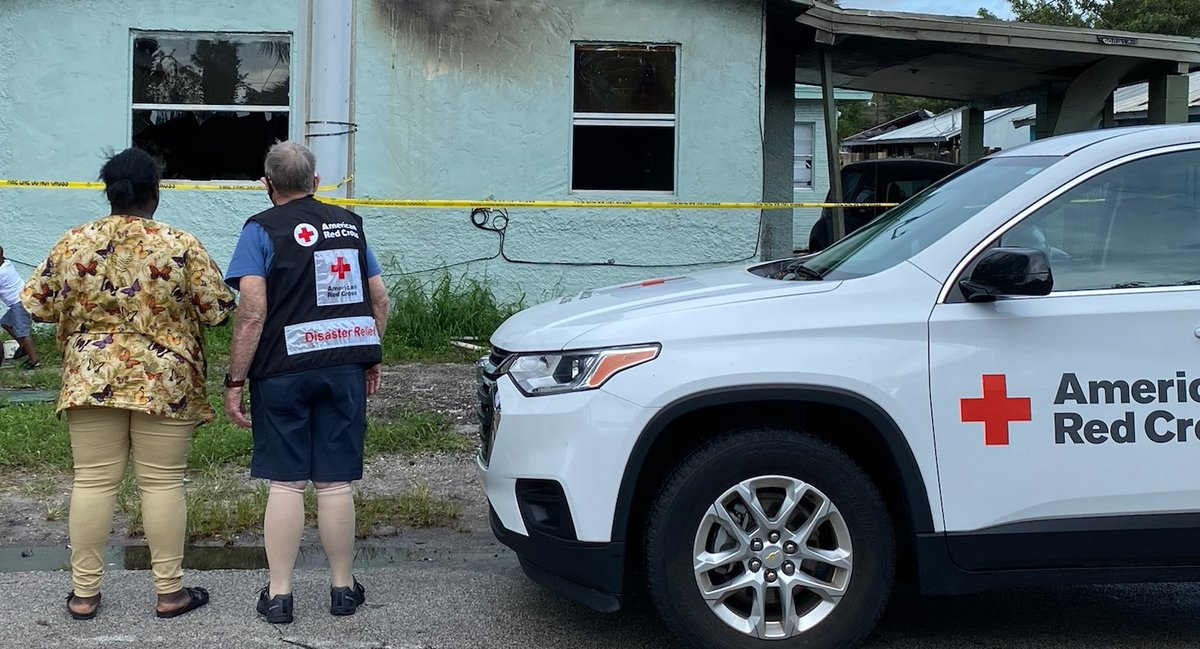 #EmergenciesDontStop even after a Tropical Storm! Today, our Red Cross volunteers responded to a multi-unit home fire that impacted two families in Fort Pierce, Fla. We are grateful the families are safe and thank @StLucieFireDist for their - quick response. ❤️