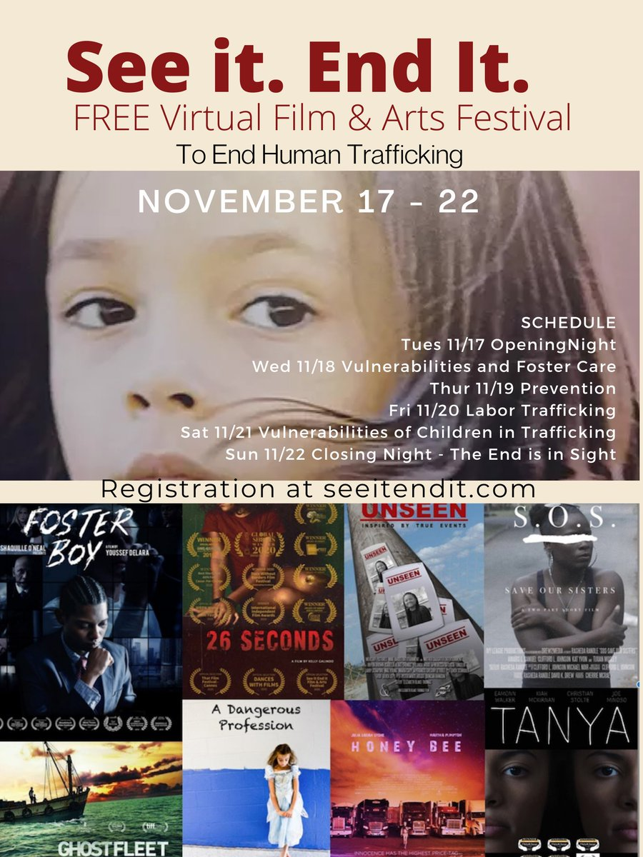 #FosterBoyMovie is honored to be a featured film at the FREE See It End It Film Festival working on the effort to stop human trafficking. This is an incredible cause and the virtual festival experience is free for everyone! Register to join the festival: