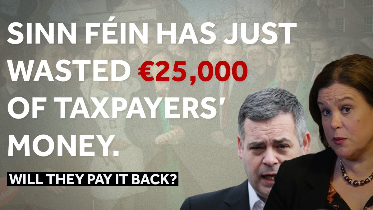 Sinn Féin has just wasted €25,000 of taxpayers' money with their pointless stunt in the #Dáil tonight.   In the middle of a pandemic and with people's jobs and businesses on the line.  Will they pay it back? https://t.co/95L7mST3X2