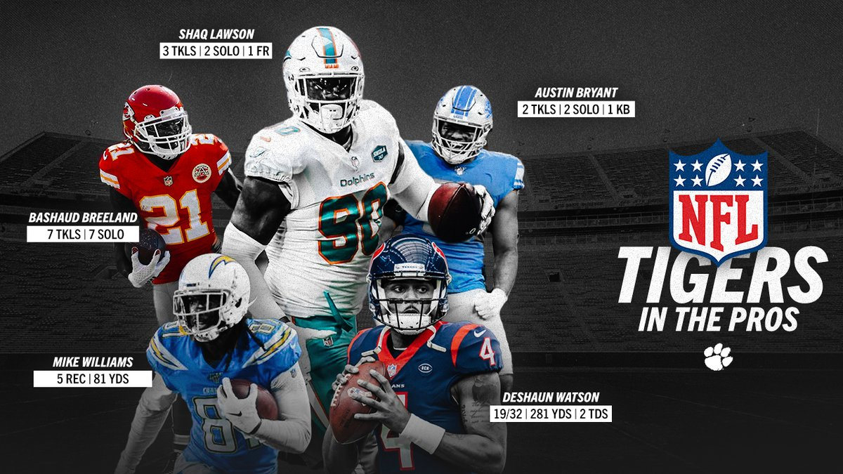 Checking in on some of our Tigers in the @NFL! 🐅🐾