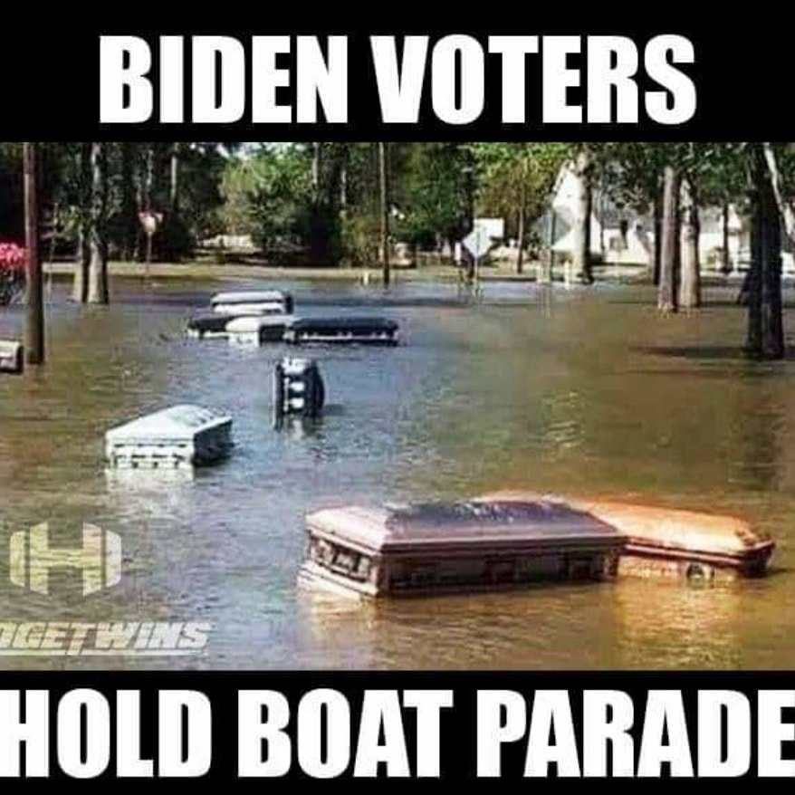 """Hodgetwins on Twitter: """"BREAKING: Images of a Joe Biden Boat Parade have  emerged https://t.co/c10N5pNNfD… """""""