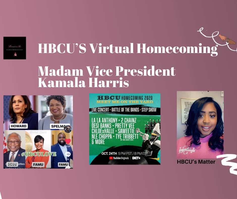 New Video Alert Have you ever attended an HBCU Homecoming?  Did you know Madam Vice President Kamala Harris attended an HBCU?  #HBCU'sLeader #HBCUHomecoming #VSU #SupportBlackColleges #Youtube #ShanieceBe #Herstory #SheMadeHistory #VirtualHomcoming 2020  #BidenHarris