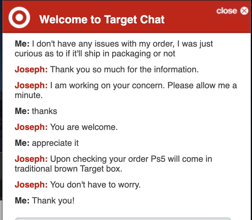 Wario64 On Twitter Target Customer Service Says That Ps5 Will Ship In A Traditional Brown Target Box After All