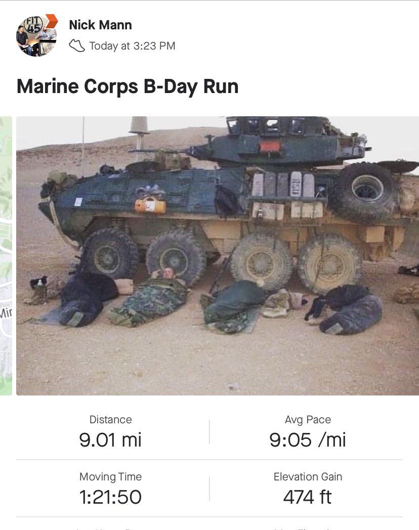 Marine Corps B-Day Run. Happy Birthday Marines.